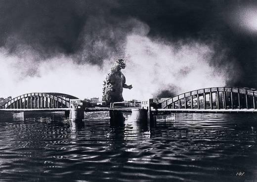 """Cena da versão japonesa do filme """"Godzilla"""", de 1954"""