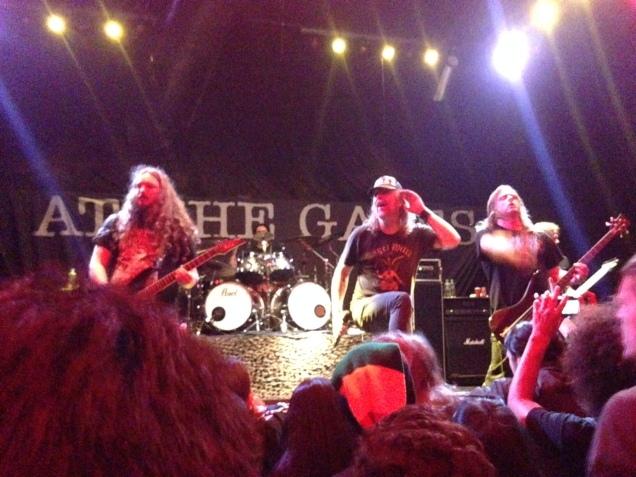 Show dos suecos do At the Gates no Clash Club, na Barra Funda, em São Paulo (Foto: Fernando Masini)