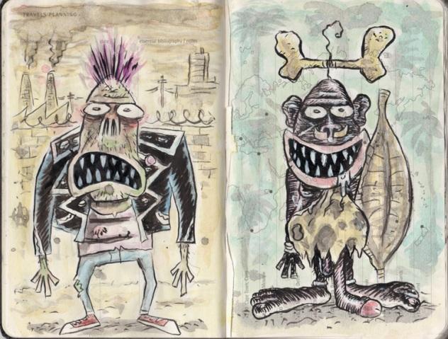Trabalhos do cartunista Chico felix