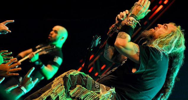 Soulfly na turnê do disco Archangel, em São Paulo (Foto: Edu Lawless)